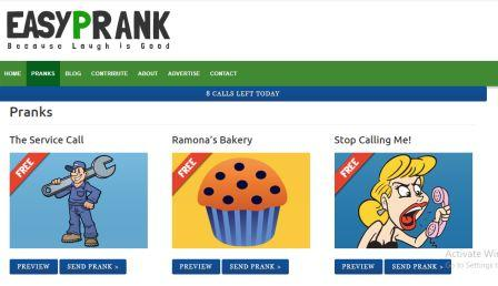 prank call online free and record it