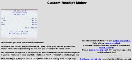 how to make a fake receipt