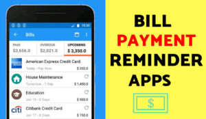 Pay bill reminder apps