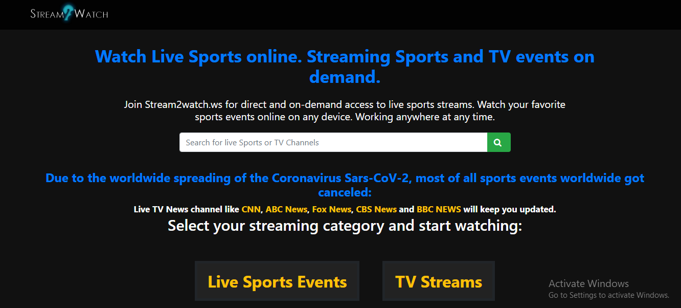 streaming sports free