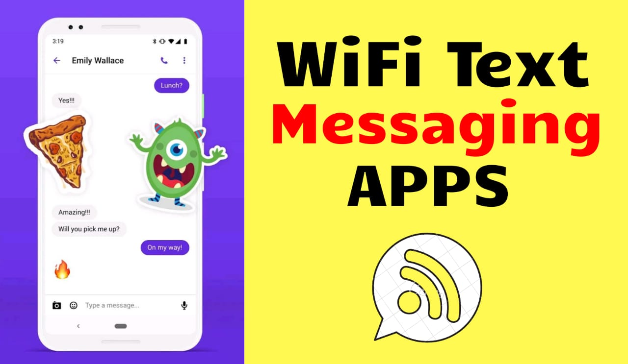 WiFi text messaging apps