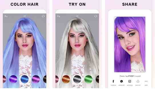 hair color changer & style effects