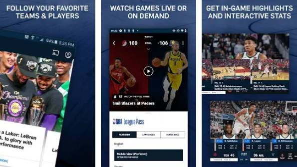 stream nba games on android free
